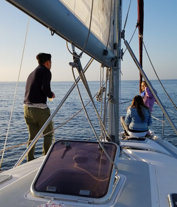 sunset sailing wine tasting