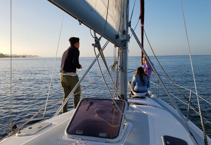 sunset sailing wine tasting